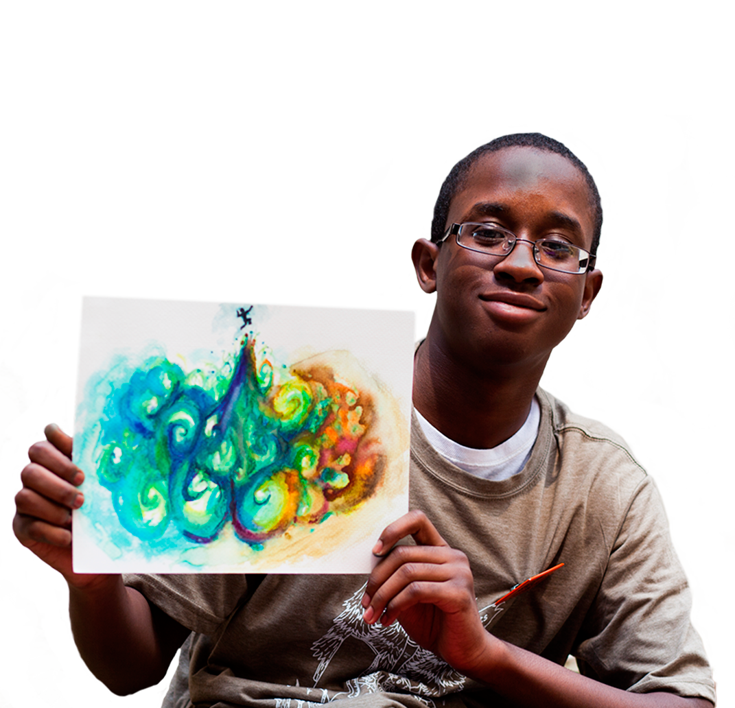 Kid Holding Artwork
